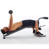 Pure Fitness Adjustable FID Weight Bench Flat/Incline/Decline - Pure Fitness