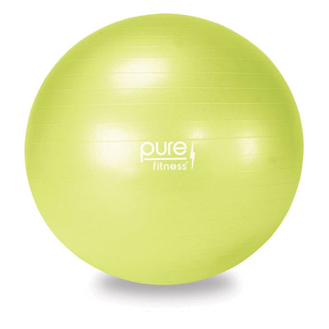 Pure Fitness 55cm Anti-Burst Exercise Ball Stability - Pure Fitness