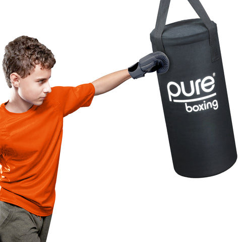 Pure Boxing 25 lb Heavy Duty Bag Set for Kids, Solid Foam Core - Pure Fitness