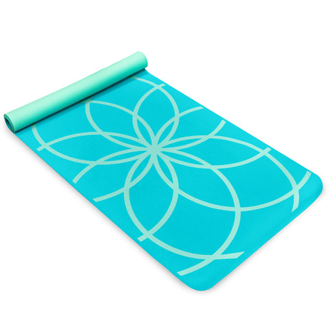 Life Energy 4mm Premium TPE EkoSmart Yoga Mat - Zen Drop - Pure Fitness