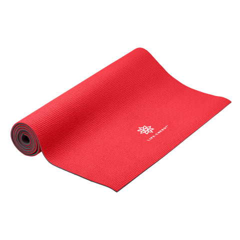 Life Energy Reversible Yoga Mat 6mm - Ruby - Pure Fitness