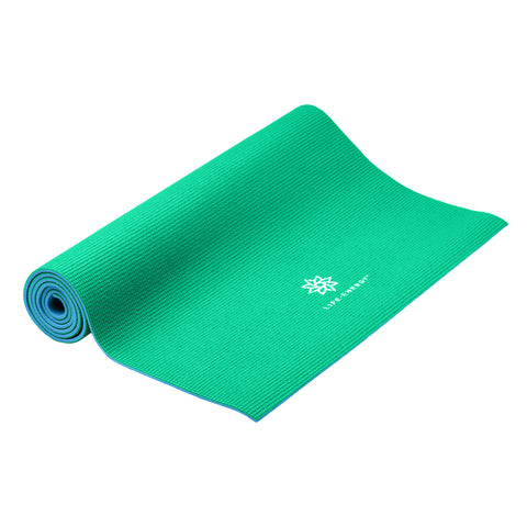 Life Energy Reversible Yoga Mat 6mm - Emerald - Pure Fitness