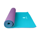 Life Energy 6mm Reversible Yoga Mat Eco Friendly - Amethyst - Pure Fitness