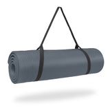 Pure Fitness Deluxe 12mm Exercise Mat (Charcoal) - Pure Fitness