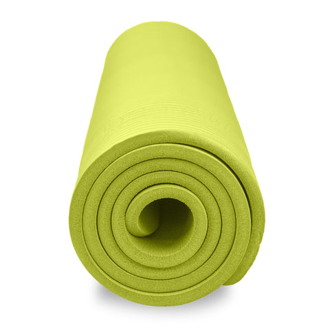 Pure Fitness Deluxe 12mm Exercise Mat (Lime) - Pure Fitness