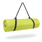 Pure Fitness 12mm High Density Exercise Mat - Lime - Pure Fitness