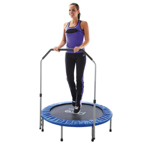Pure Fun 40-inch Exercise Trampoline with Handrail - Pure Fitness