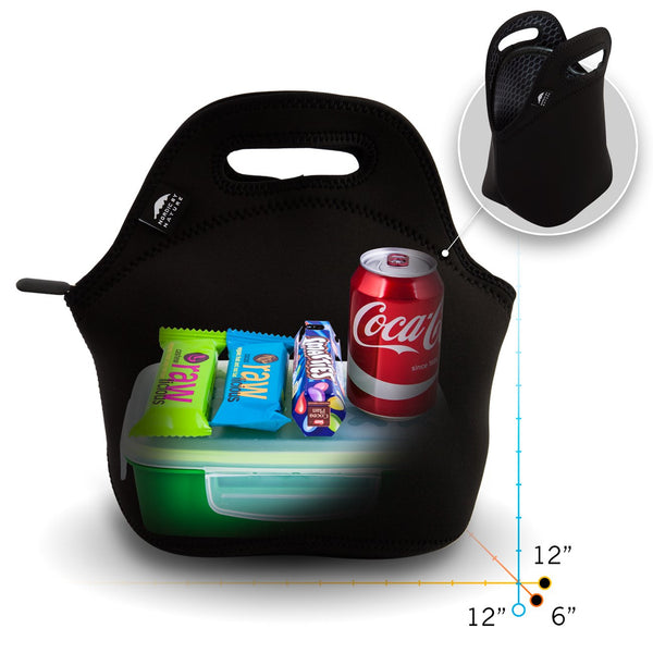 "12"" BLACK METAL LUNCH BAG SET"