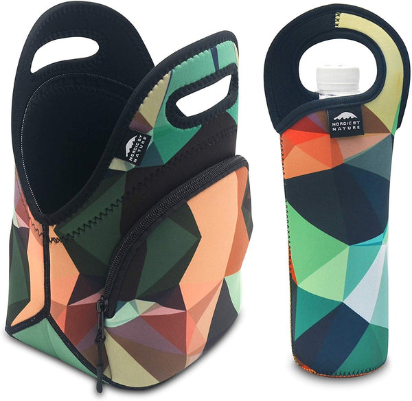 "12"" MOSAIC CAMO LUNCH BAG SET"