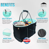 NEW Versatile Beach & Pool Bag - Perfect Bag For All Purposes - Black/Turqouise