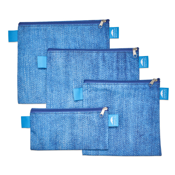 PREMIUM BLUE DENIM SANDWICH BAG SET (4)