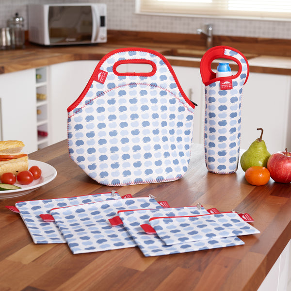 "LUNCH BAG SET 12"" APPLE"