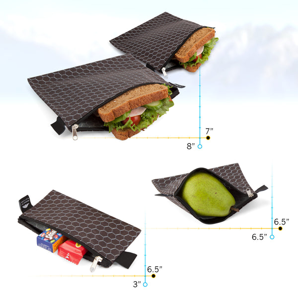 PREMIUM BLACK METAL SANDWICH SET (4)