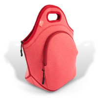 "13.5"" Cotton Lunch Bag Red"