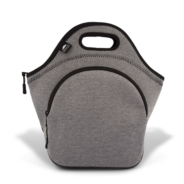 "13.5"" Cotton Lunch Bag Darkgray/Black"