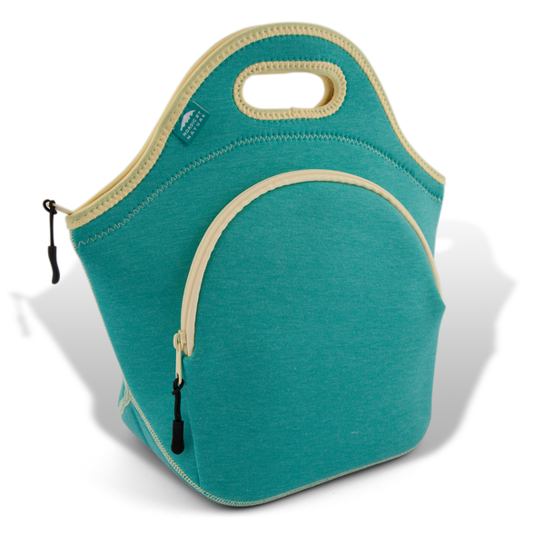 "13.5"" Cotton Lunch Bag Lagoon/Yellow"