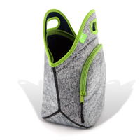 "13.5"" Cotton Lunch Bag Gray Melange"