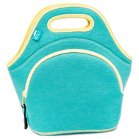 "12"" Cotton Lunch Bag Lagoon/Yellow"