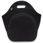"13.5"" Cotton Lunch Bag Black/Black"