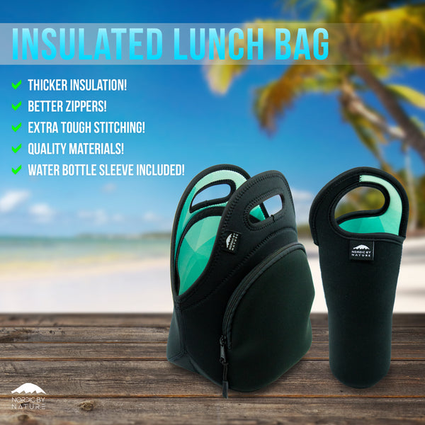 "LUNCH BAG SET 12"" TURQUOISE"