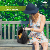 "12"" Cotton Lunch Bag Black"