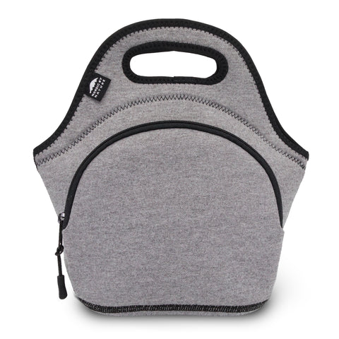 "12"" Cotton Lunch Bag Darkgray/Black"