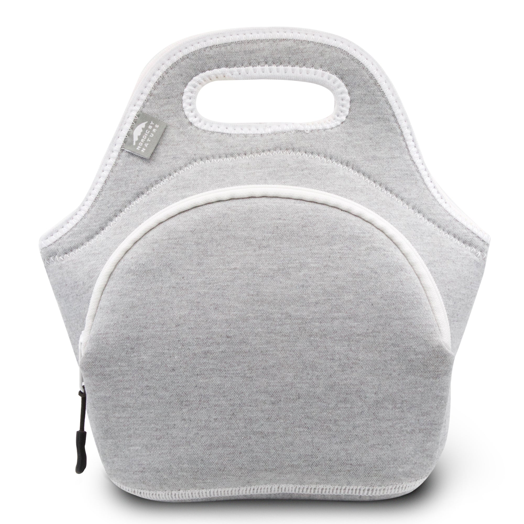 "12"" Cotton Lunch Bag White/Grey"