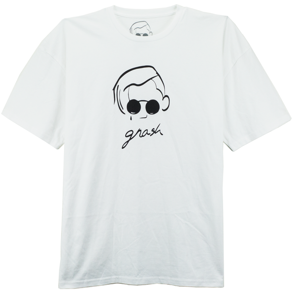 gnash logo white tee