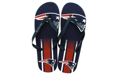 New England Patriots Big Logo Flip Flops