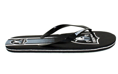 Oakland Raiders Big Logo Flip Flops