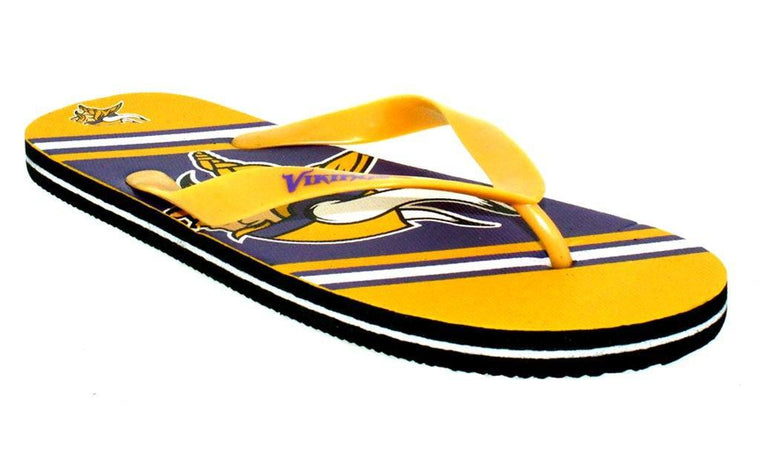 Minnesota Vikings Big Logo Flip Flop