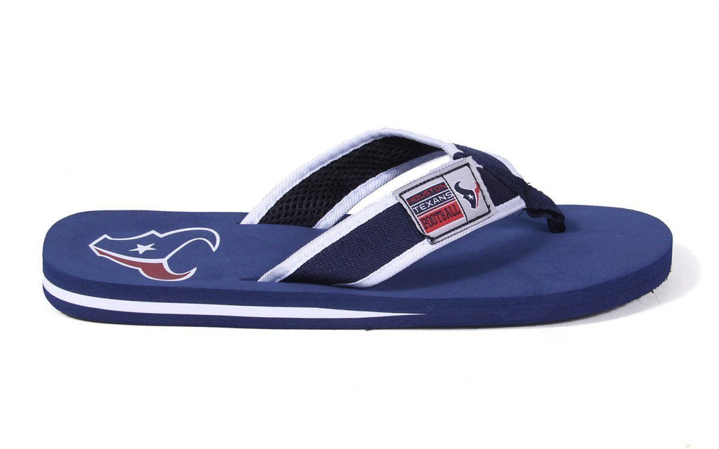 Houston Texans Contour Flip Flops