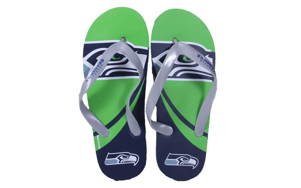 Seattle Seahawks Big Logo Flip Flops