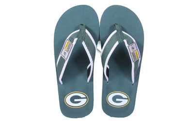 Green Bay Packers Contour Flip Flops