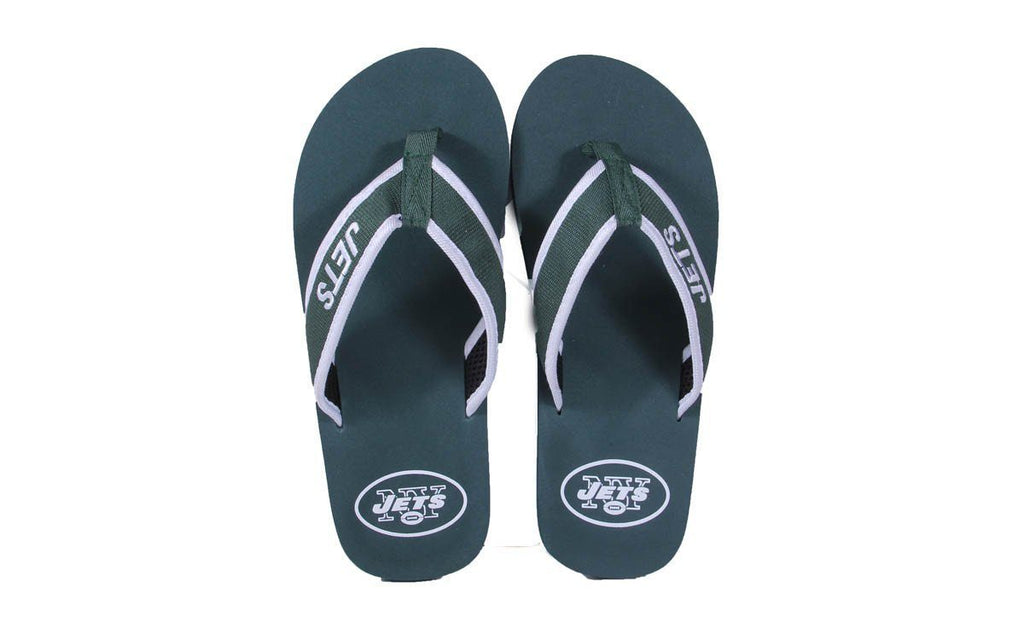 New York Jets Contour Flip Flops