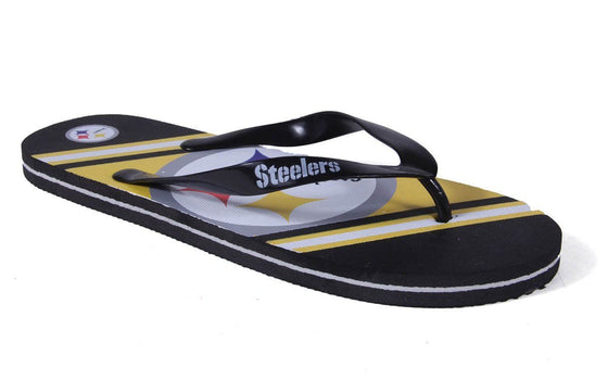 Pittsburgh Steelers Big Logo Flip Flops