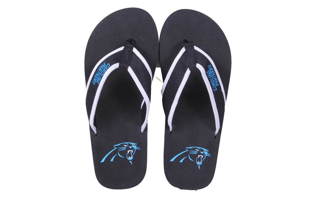Carolina Panthers Contour Flip Flops