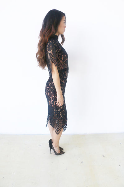 Do + Be Black All Over Lace Dress