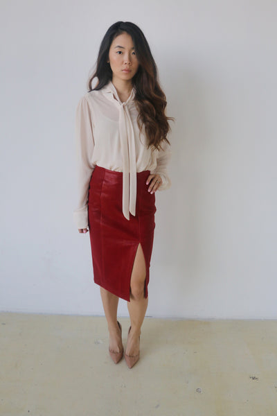 J.O.A. Red Woven Skirt