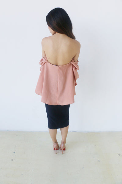 Do + Be Blush Off Shoulder Balloon Top