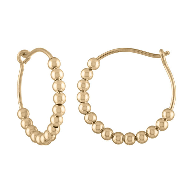 Alexa Leigh Medium Ball Hoop Earring