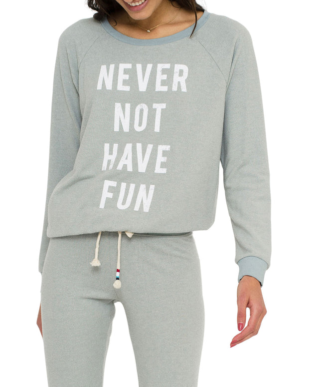 Sol Angeles Never Not Have Fun Pullover
