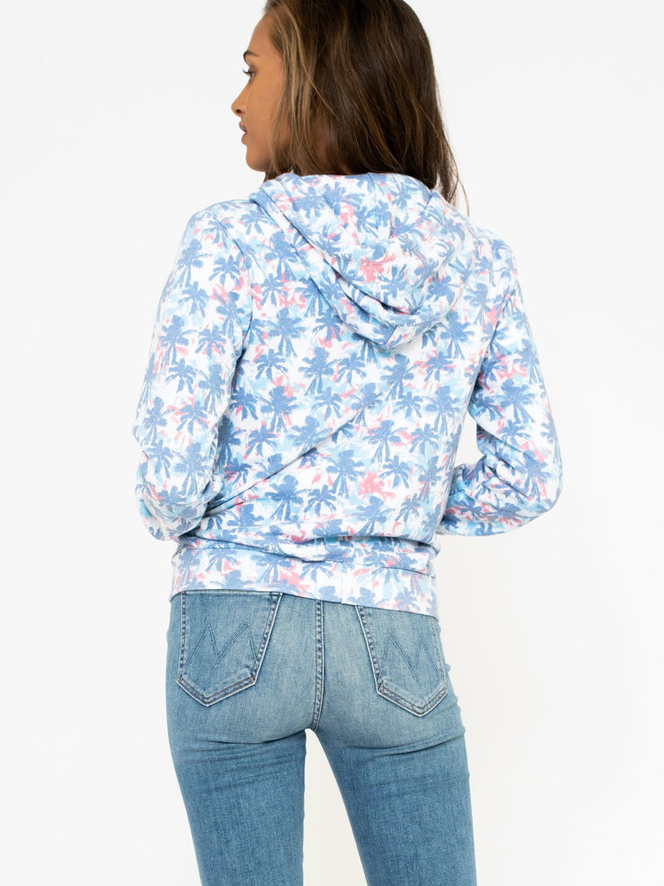 Sol Angeles Sunset Palm Zip Hoodie-Women-LABL VB/The Collective