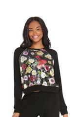 Terez Winter Sequin Floral Sweatshirt