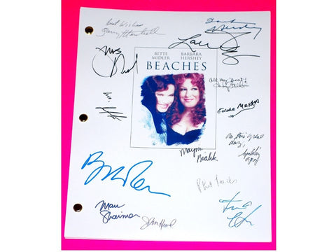 Beaches Signed Movie Script Screenplay Autographed Bette Midler, Barbara Hershey, Lainie Kazan, Garry Marshall, John Heard, Spalding Gray