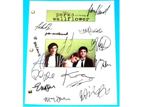 The Perks of Being a Wallflower Movie Script Signed Autographed Logan Lerman, Emma Watson, Ezra Miller, Mae Whitman, Nina Debrev, Kate Walsh