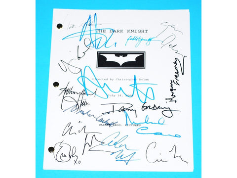THE DARK KNIGHT Movie Script (2008)  Signed Autographed Health Ledger, Christian Bale, Christopher Nolan, Aaron Eckhart, Morgan Freeman