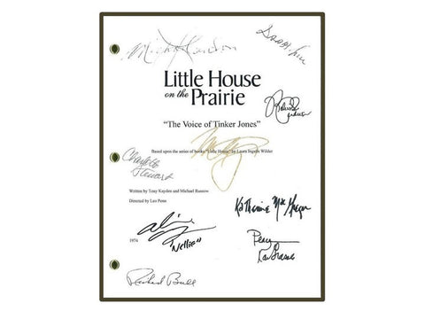 "Little House on the Prairie ""The Voice of Tinker Jones"" 1974 TV Script Signed Autograhed Michael Landon, Melissa Gilbert"