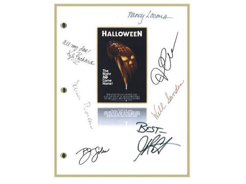 Halloween Entire Movie Script Signed Screenplay Autographed: Donald Pleasence, Jamie Lee Curtis, P.J. Soles, Nancy Loomis, John Carpenter
