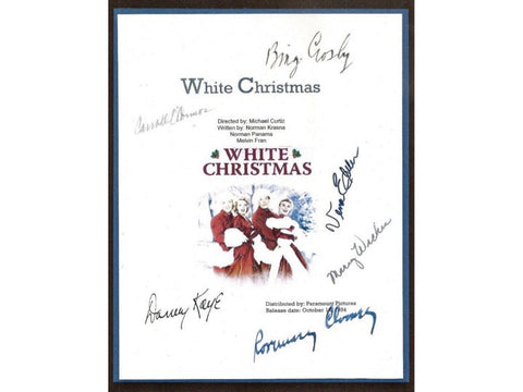 White Christmas Movie Script Signed Screenplay Autographed: Bing Crosby, Danny Kaye, Rosemary Clooney, Vera-Ellen, Mary Wickes